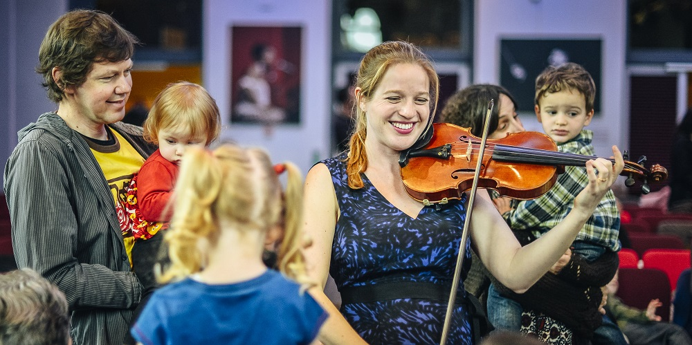 Bach to School violin at the Royal Albert Hall