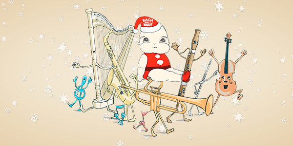 Bach to Baby programme image - The Festive Harp -  Bach to Baby Christmas  Family Concert
