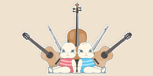 Bach to Baby programme image - It Takes Two 🎻 🎻