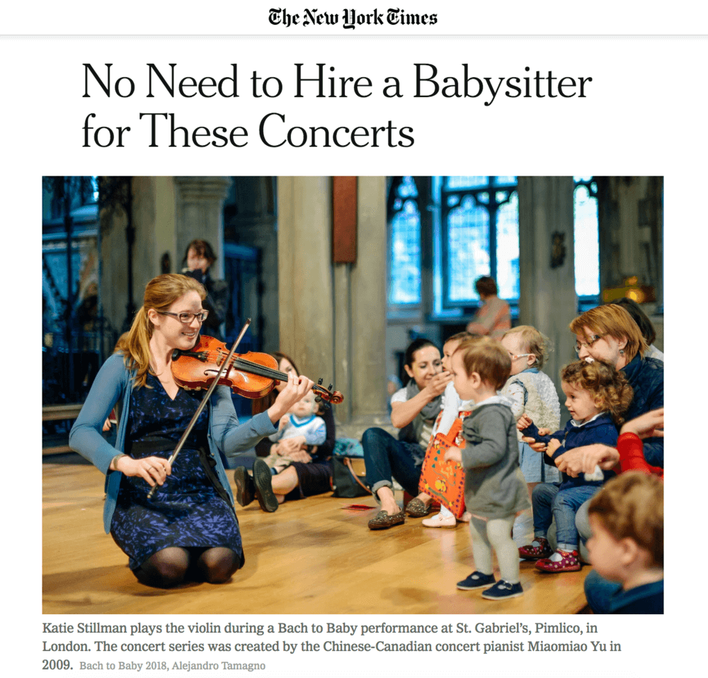 Bach to Baby in the New York Times