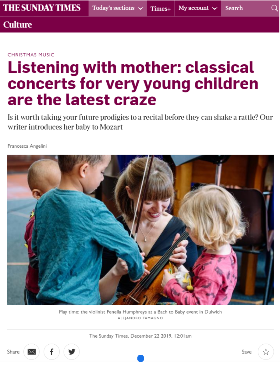 Bach to Baby in The Sunday Times